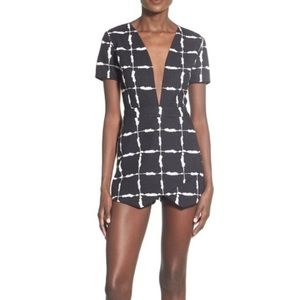 JOA Black and White Romper